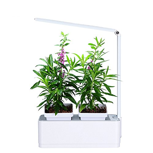 greenearth mini indoor smart hydroponics plant herb garden kit with led light growing system. Black Bedroom Furniture Sets. Home Design Ideas